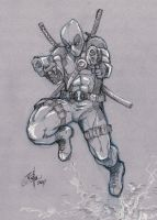 Con Sketch Deadpool by Oshouki