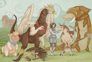 a girl and her monster ranch by edface