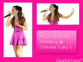 Pack Png de Ariana Grande by CakeEditions7