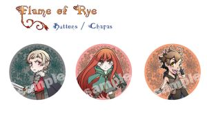 Flame of Rye: chibi buttons by elypsiaproject