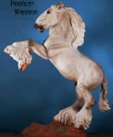 Rearing shire resin horse by tolthorse