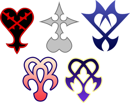 The known creatures of Kingdom Hearts by Xelku9