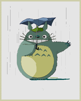 Totoro pixel by Aisidedpipol