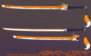 Fox Katana Weapon Adopt (closed) by Nano-Core
