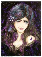 Old artwork Gypsy Girl by Hollow-Moon-Art