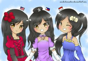 APH MaPhilIndo Sisters~ by smile-himechii
