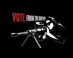 Votin' From the Rooftops. by Chrona-X-Kid