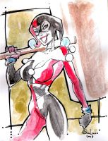 Harley Queen....sketch by qualano