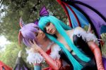 Morrigan and Lilith Aensland by ThelemaTherion