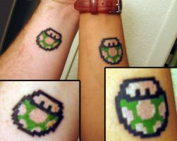 OneUp Mushroom TATTOO by polkadotkat