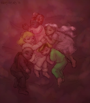 Rosy Cuddlepile by ErinPtah