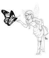 Monarch Fairy by InkCell-Illustration