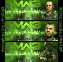 Modern Warfare 3- Timeline Covers by LadyAnnatar