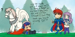 Hector and the Pegasus by Silver-Falcon