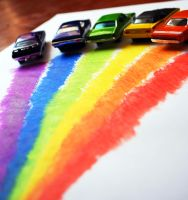 Cars-rainbow by JabinQuaken
