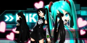 P-Style Miku Dt (Black) by GrayFullbuster21