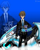5D Seto Kaiba and Duel Runner by Linchpin02