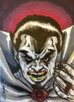 Dracula Sketch Card by aldoggartist2004