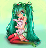 Strawberry Miku- Lineart by sTiViA Reloaded by Suiish