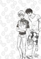 Yukito shopping for lunch along with Toya by Lowis13