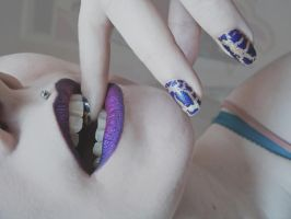 Purple Lips by Jennybicky