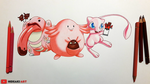 Mew, Lickitung and Chansey || Pokemon by HideakiArtReal