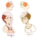 Robin and Ginger by PenguinEatsCarrots