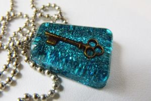 The Key in teal by 2littleKisses