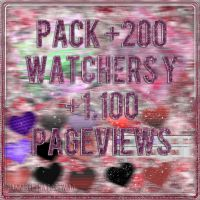+MiniPACK +200 Watchers y +1100 pageviews by SparksInFire