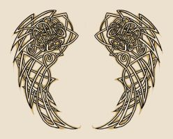 Celtic Wings - tattoo design by Cyanide-Bride