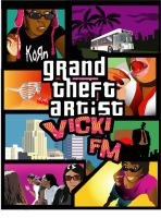 Grand Theft Artist Poster by VickiBeWicked