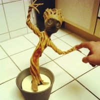 Baby Groot-First try on the Body Part with Worbla by IronMask90