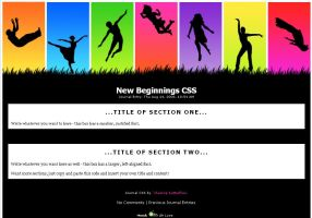 New Beginnings CSS by chasing-butterflies