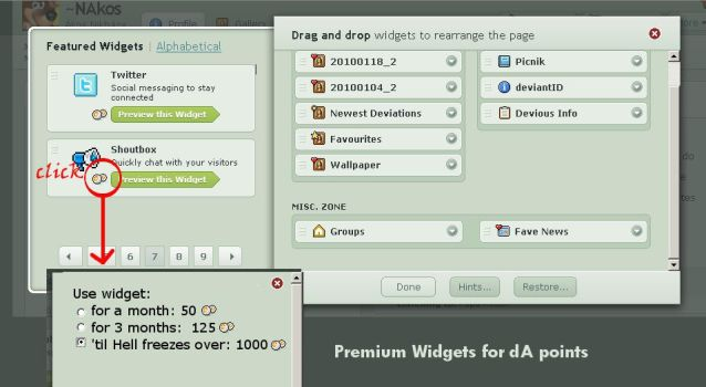 dA Suggest- Widgets for points by NAkos