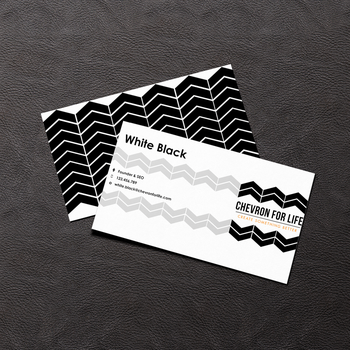 Chevron for Life business card by mon1chka