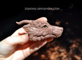 Asian dragon head- WIP by LisaToms