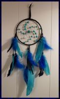 Dreamcatcher: Blue and Black by netherwings
