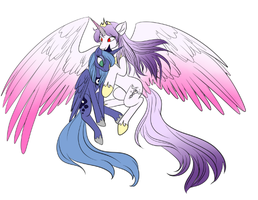Prince Tempo Musica and Princess Luna by Passionateshadow