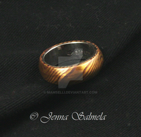 Mokume gane ring by Mamselli