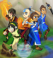 Team Avatar by SmashToons