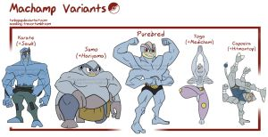 PKMN- Machamp variations by turbopup