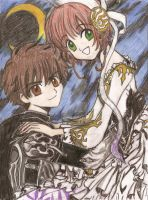 sakura and syaoran by 6wendybird91