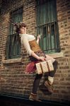 Alley way - Steampunk by xRikku-chanx