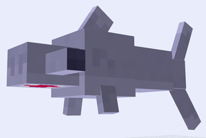 Minecraft Mob Ideas - Hammerhead Shark by RedPanda7