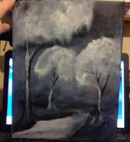 Trees In Acrylic by DenNami