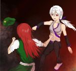 Meiling Vs. Haku by necrophiliacgum