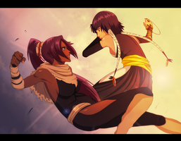 Yoruichi vs Soi Fon - DOWNLOAD FOR HQ. by felitomkinson