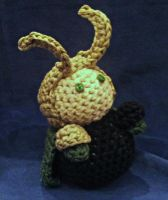 Hand Crocheted Loki Plushie by hookedonchibis