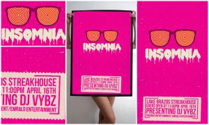 Insomnia Poster Design 2 by IshaanMishra