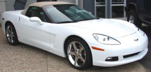 White Corvette Convertible 2 by FantasyStock